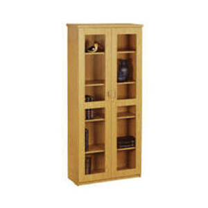 Glass Hinge 2 Door Bookcase