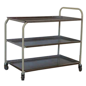 4 Wheel Steel Tray
