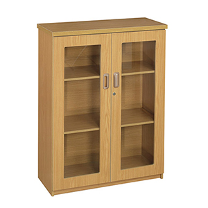 Glass Hinge 2 Door Mini Bookcase